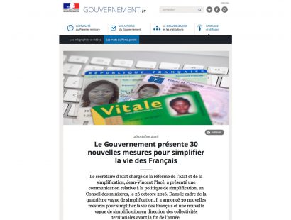 MICHELIN, GOUVERNEMENT.FR, ou LE PROGRES, quelques parutions web récentes.