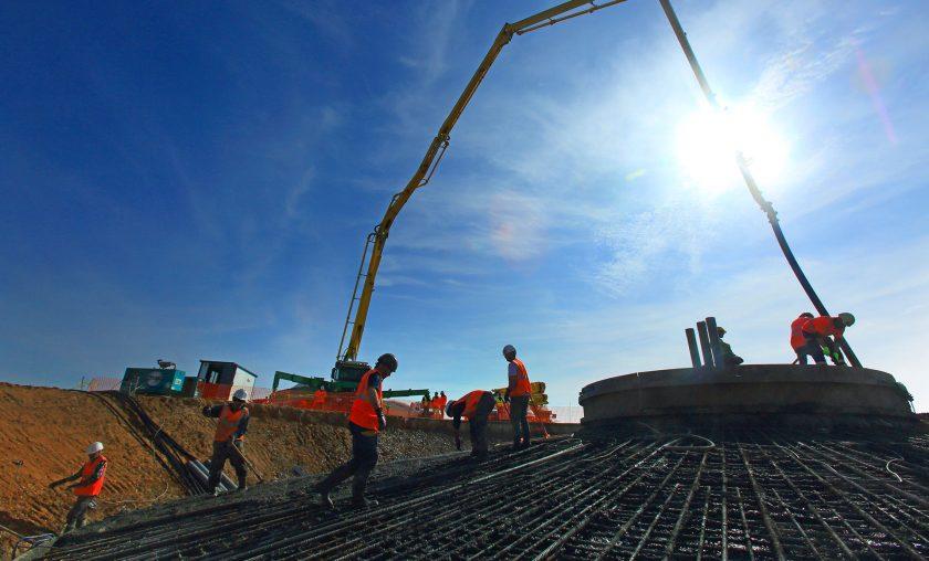 GTS – Réalisation de massif par ferraillage puis béton pour éolienne