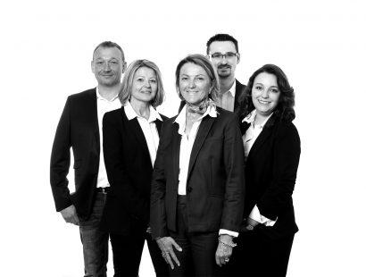 L'équipe de l'agence Jacquard à Calais pour Carèje imprimeurs