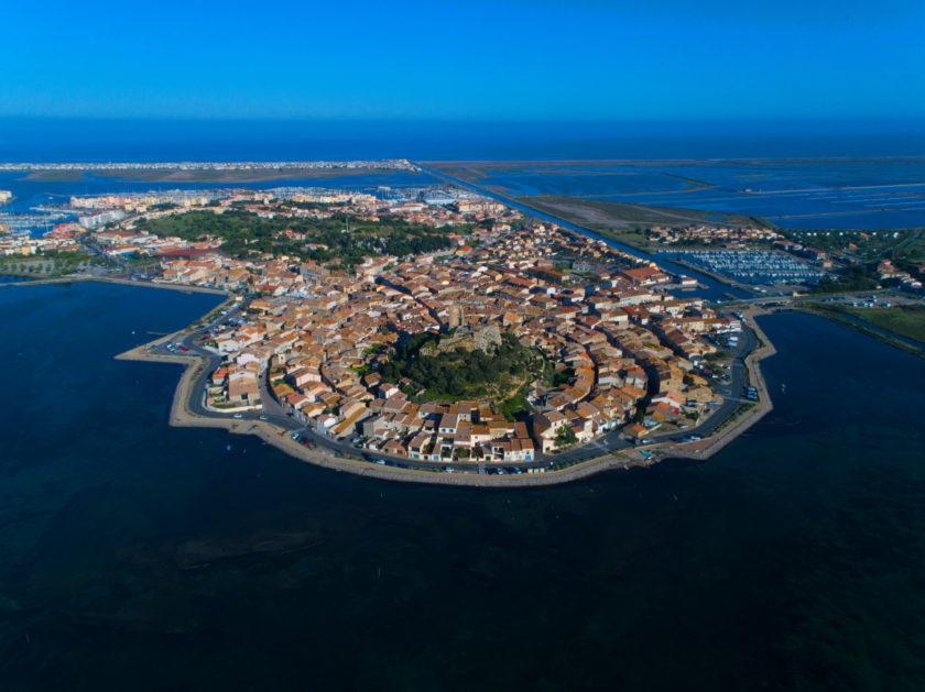 Images aériennes à Gruissan (Aude)